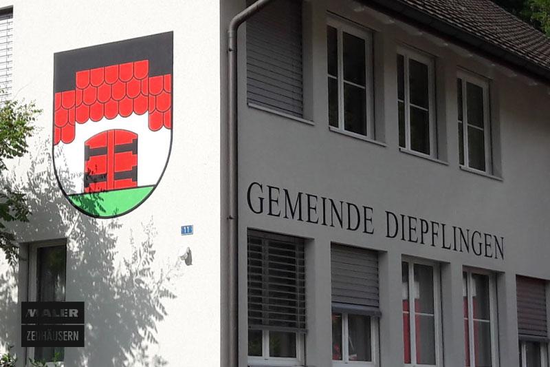Fassade der Gemeinde Diepflikon