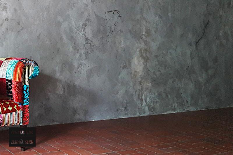 Gekonnt verputze Wand