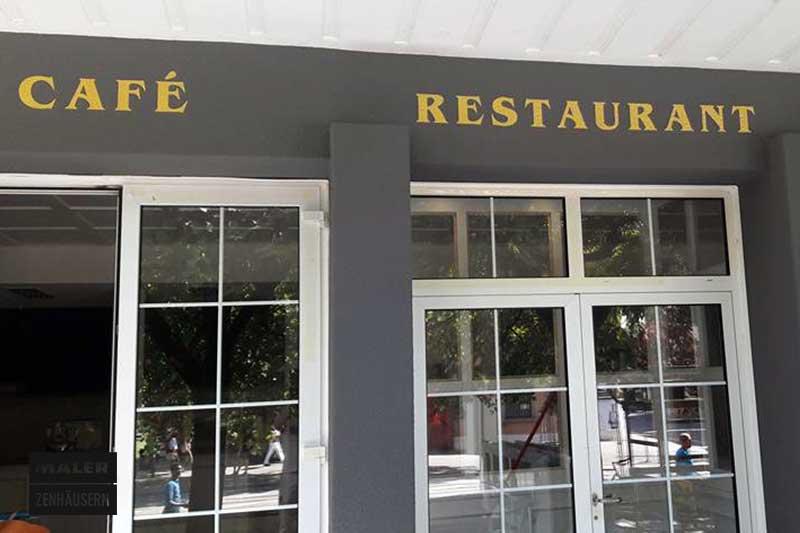 Logo Gestaltung im Cafe Restaurant Trio