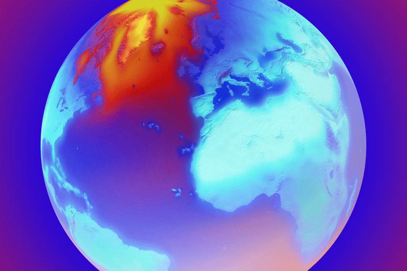 Erde am Limit, Plakat mit einer Erde in bunten Farben